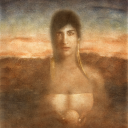 Frantisek Strouhal, Encounter with the Unknown, 24 inches x 20 inches, Work on Paper, Oil Printing 1